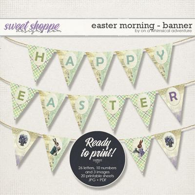 Easter Morning Banner by On A Whimsical Adventure