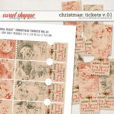 Christmas Tickets Vol01 by On A Whimsical Adventure