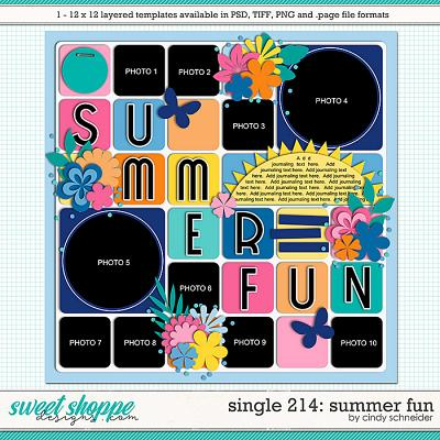 Cindy's Layered Templates - Single 214: Summer Fun by Cindy Schneider