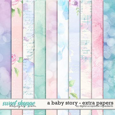 A Baby Story | Extra Papers by Digital Scrapbook Ingredients