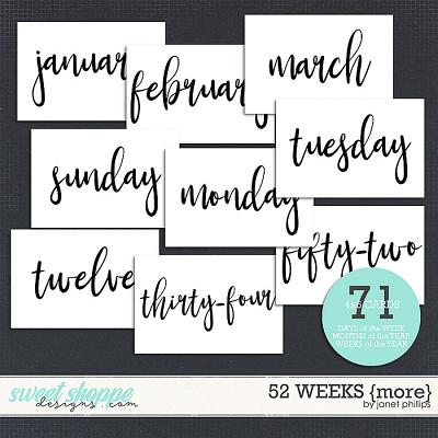 52 Weeks {more} by Janet Phillips