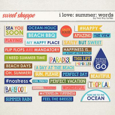 I Love: Summer Words by Two Tiny Turtles
