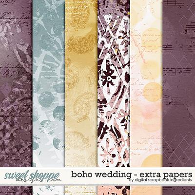 Boho Wedding | Extra Papers by Digital Scrapbook Ingredients