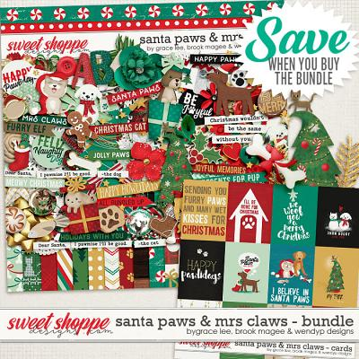 Santa Paws & Mrs Claws: Bundle by Grace Lee, Brook Magee & Wendyp Designs