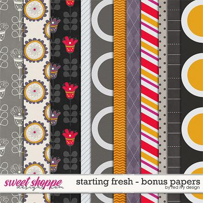 Starting Fresh - Bonus Papers by Red Ivy Design