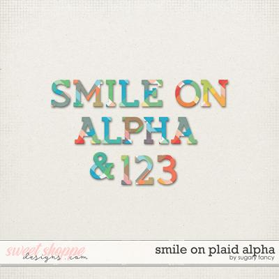 Smile On Plaid Alpha by Sugary Fancy