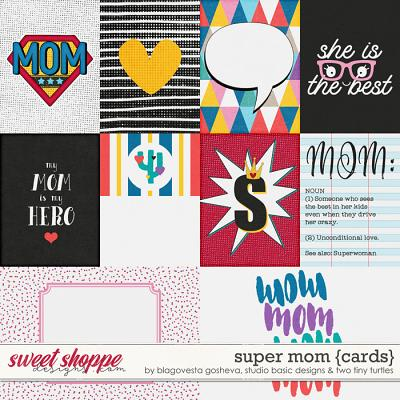 Super Mom Cards by Blagovesta Gosheva, Studio Basic and Two Tiny Turtles