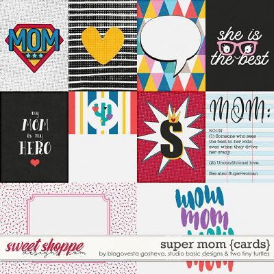 Super Mom Cards by Blagovesta Gosheva, Studio Basic and Two Tiny Turtles