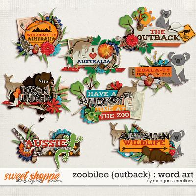 Zoobilee {Outback} : Word Art by Meagan's Creations