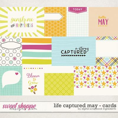 Life Captured May   Journal Cards by Digital Scrapbook Ingredients