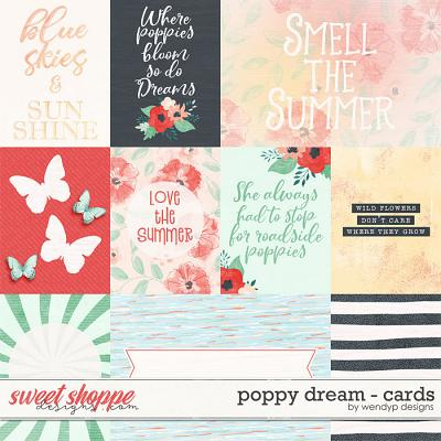 Poppy dream - cards by WendyP Designs
