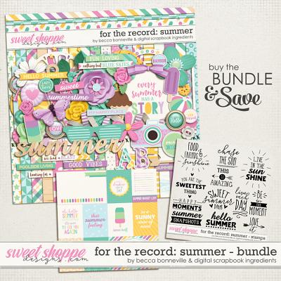 For The Record: Summer Bundle by Becca Bonneville & Digital Scrapbook Ingredients