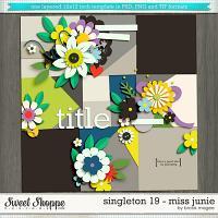 Brook's Templates - Singleton 19 - Miss Junie by Brook Magee