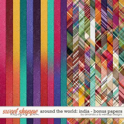 Around the world: India - Bonus Papers by Amanda Yi & WendyP Designs