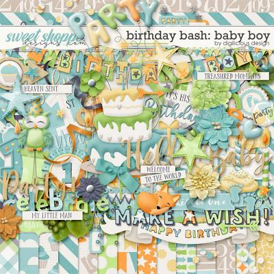 Birthday Bash: Baby Boy {Kit} by Digilicious Design