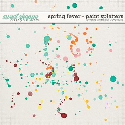 Spring Fever Paint Splatters by On A Whimsical Adventure