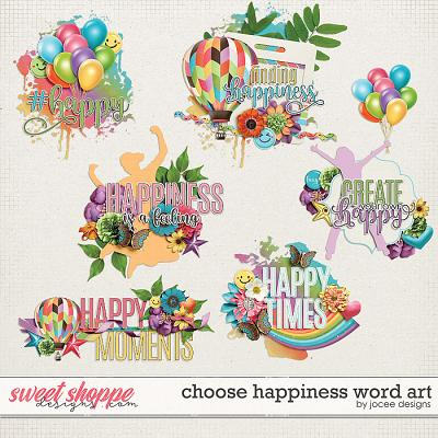 Choose Happiness Word Art by JoCee Designs