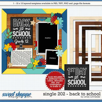 Cindy's Layered Templates - Single 202: Back to School by Cindy Schneider