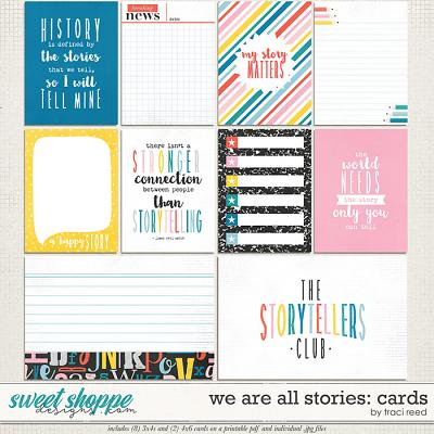 We Are All Stories Journal Cards by Traci Reed