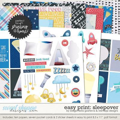 Easy Print: Sleepover by Blagovesta Gosheva & WendyP Designs