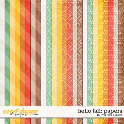 Hello Fall: Papers by River Rose Designs