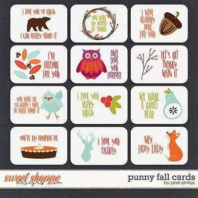 PUNNY FALL CARDS by Janet Phillips