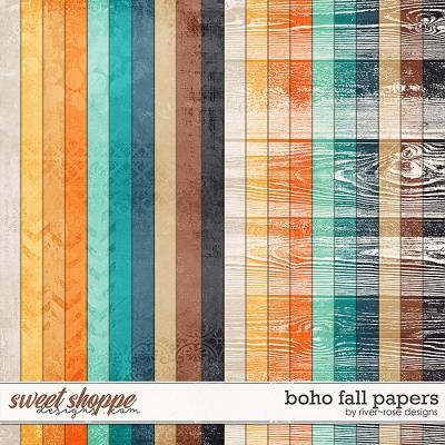 Boho Fall Papers by River Rose Designs