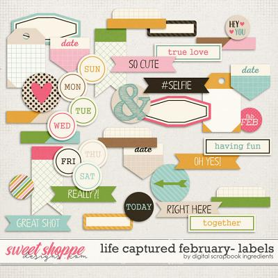 Life Captured February | Labels and Word Art by Digital Scrapbook Ingredients
