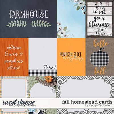 Fall Homestead: Cards by Meagan's Creations