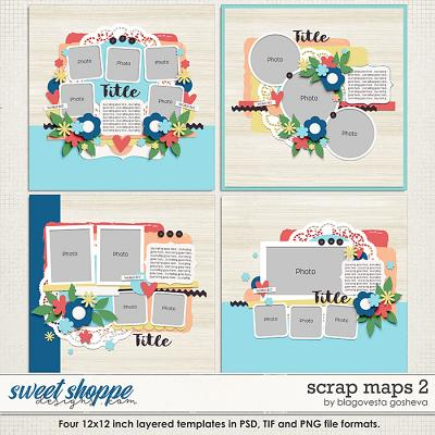 Scrap Maps 2 {layered templates} by Blagovesta Gosheva