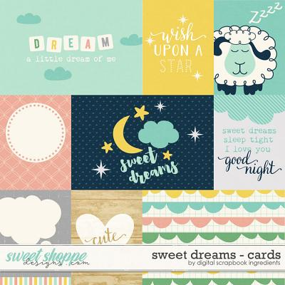 Sweet Dreams | Journal Cards by Digital Scrapbook Ingredients