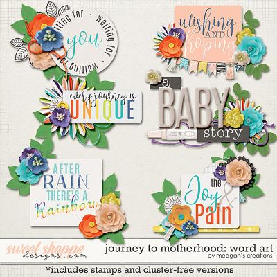 Journey to Motherhood: Word Art by Meagan's Creations