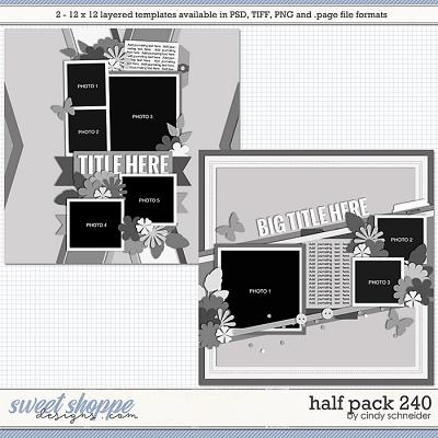 Cindy's Layered Templates - Half Pack 240 by Cindy Schneider