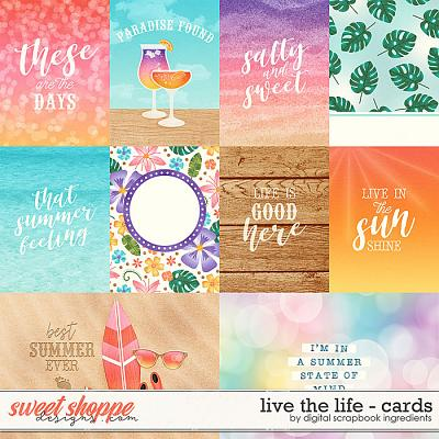 Live The Life | Cards by Digital Scrapbook Ingredients
