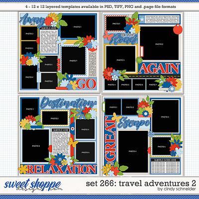 Cindy's Layered Templates - Set 266: Travel Adventures 2 by Cindy Schneider