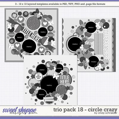 Cindy's Layered Templates - Trio Pack 18: Circle Crazy by Cindy Schneider