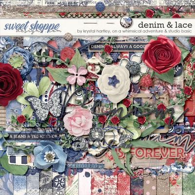 *FREE with your $10 Purchase* Denim And Lace by Krystal Hartley, On A Whimsical Adventure and Studio Basic