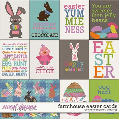 Farmhouse Easter Cards by Clever Monkey Graphics