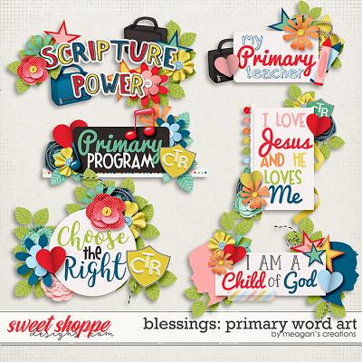 Blessings: Primary Word Art by Meagan's Creations