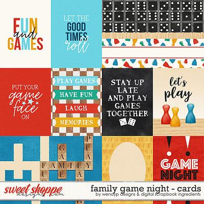 Family game night - Cards by Digital Scrapbook Ingredients & WendyP Designs
