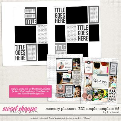 Memory Planners - Big - Simple #5 by Traci Reed