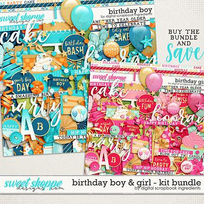 Birthday Boy & Girl Kit Bundle by Digital Scrapbook Ingredients