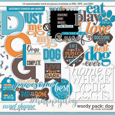 Cindy's Wordy Pack: Dog by Cindy Schneider