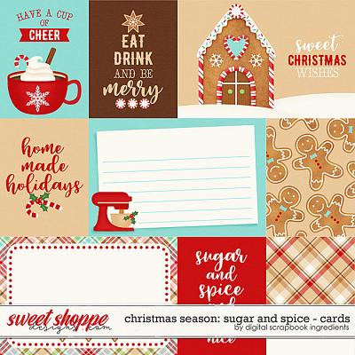 Christmas Season: Sugar and Spice | Cards by Digital Scrapbook Ingredients