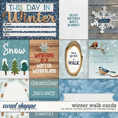 Winter Walk - Cards by Clever Monkey Graphics & WendyP Designs