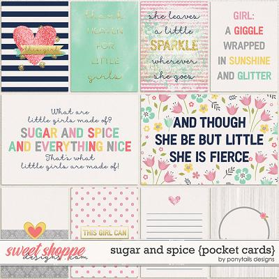 Sugar and Spice Pocket Cards by Ponytails