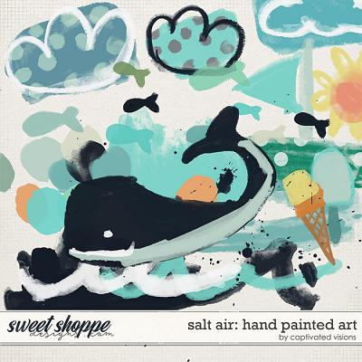 Salt Air: Hand Painted Art by Captivated Visions
