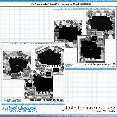 Cindy's Layered Templates - Photo Focus Duo Pack by Cindy Schneider
