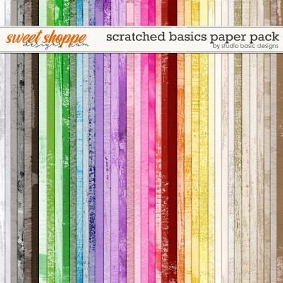 Scratched Basics Paper Pack by Studio Basic