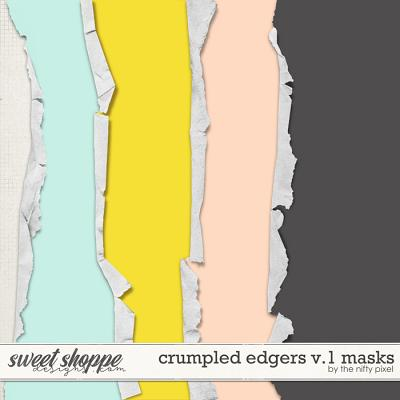 CRUMPLED EDGERS V.1 | CLIPPING MASKS by The Nifty Pixel